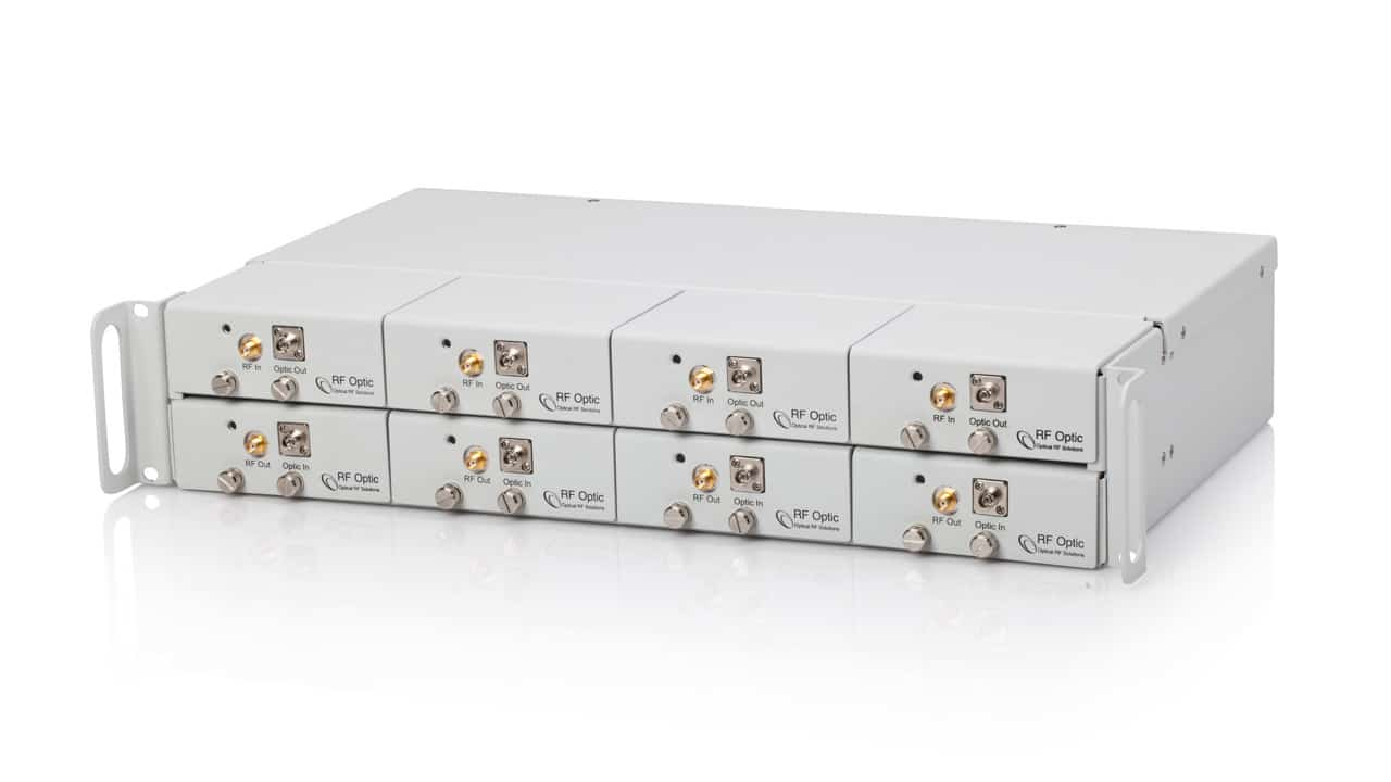 2.4GHz RFoF Multi-Link System For Up To 12 Tx or Rx Links in 1U Removable Panel Enclosure