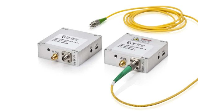 2.5GHz RF over Fiber Transmitter and Receiver – Palm-Sized and Programmable