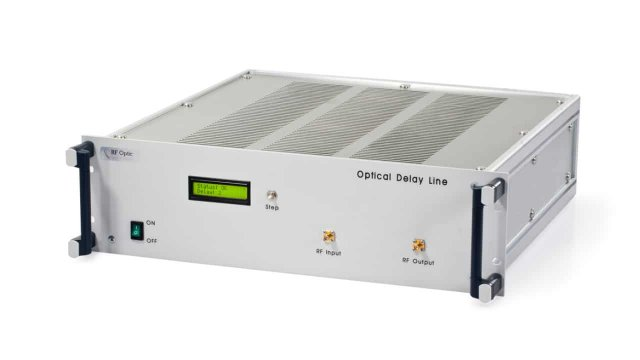 10MHz - 8GHz Optical Delay Line With Fixed Time Delay Between 0.01 and 1000 μsec
